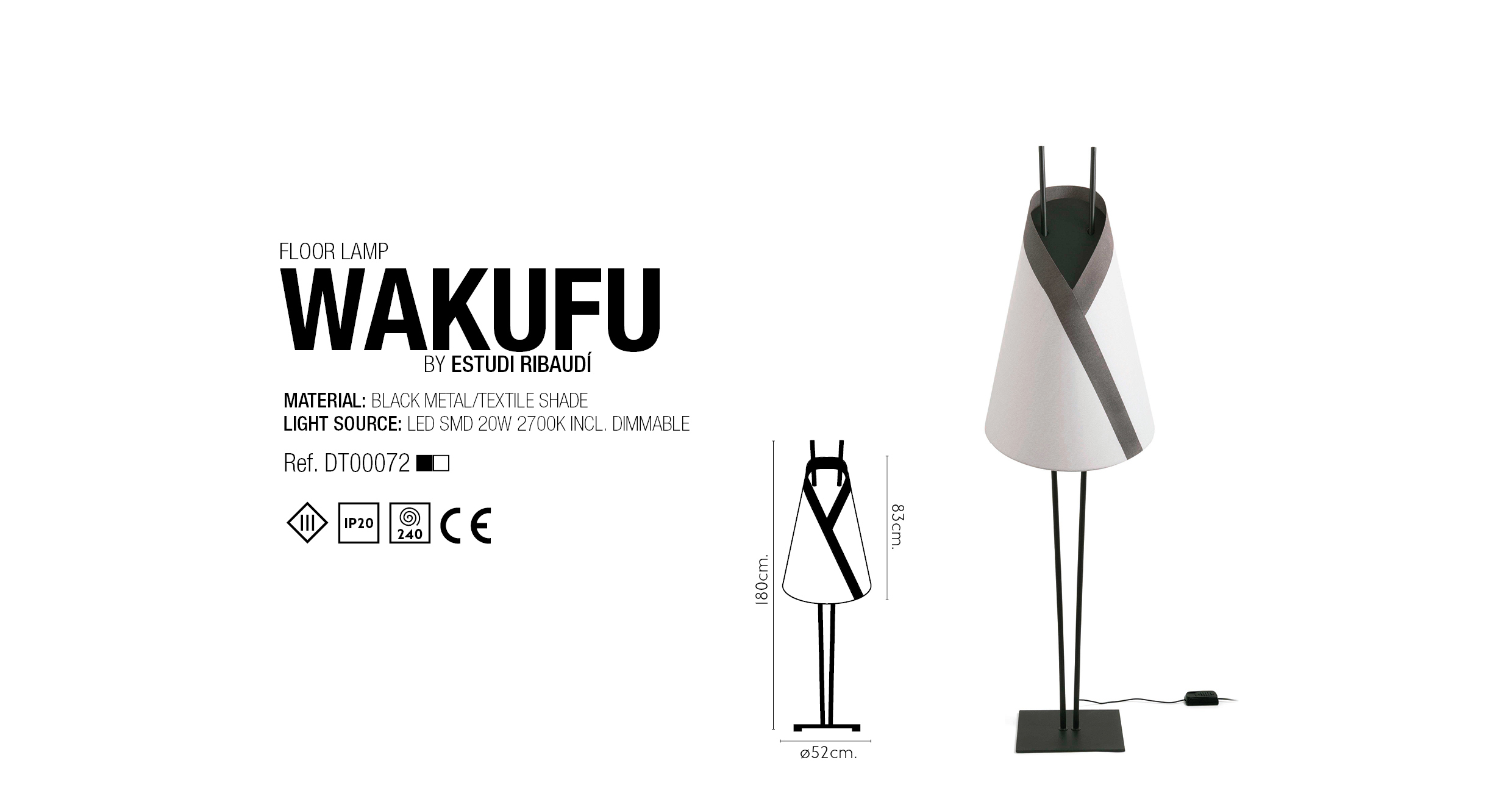 WAKUFU FLOOR LAMP Wakufu Is A Family Inspired By Eastern Culture The Art Of Origami Shade Reminiscent Kimono Projects Dim Even Light