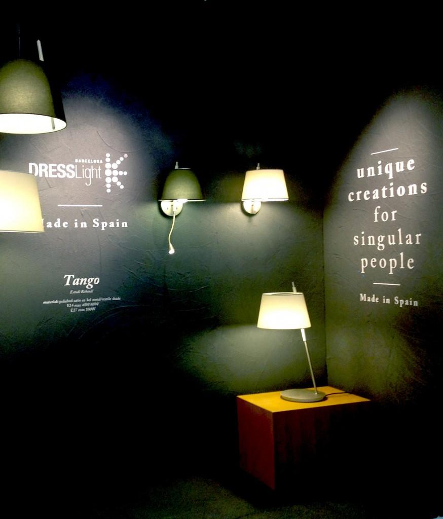 Dresslight designer fixture lights at Hong Kong Lighting Fair